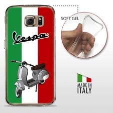 Samsung Galaxy S6 Edge CASE COVER PROTETTIVA TRASPARENTE VINTAGE Vespa Italia