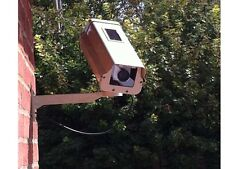 Solar Dummy Fake Security CCTV Camera - Quality Metal Housing -  LED Light