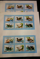 Vietnam Stamps Ducks 4 Imperforate Sets NH Lot