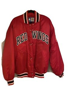 Vintage Detroit Red Wings Satin Starter Jacket size L New W/ OG Receipt! 🔥🔥🔥