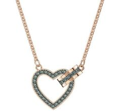 Retired Lovely Heart Necklace Gray Rose Gold 2019 Swarovski Jewelry 5465686