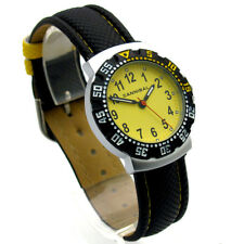 Cannibal Kid's Quartz Watch With Yellow Dial Analogue Display and Black Plastic