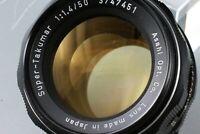 ASAHI Pentax Super Takumar 50mm F/1.4 SLR M42 Used Lens #26