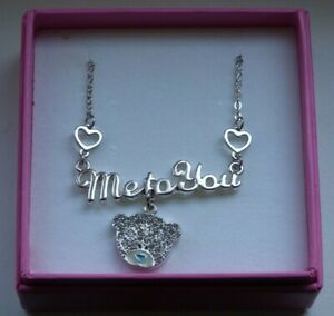 """me to you """" Necklace Set With Crystal Stone`s """" New & Boxed 2 Beautiful gift"""