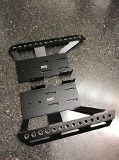 Aluminum Side Step Skid Plate Rock Rail Set Billet Axial SCX10ii Receiver Box