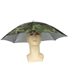 Outdoor Foldable Sun Umbrella Hat Golf Fishing Camping Headwear Cap Head Hat K
