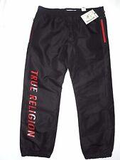 True Religion men's black wind track pants Sweatpants size XL retail $121