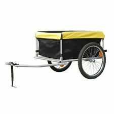 Outdoor Bike Bicycle Trailer w/ Cover Transport Cargo Luggage Cart Carrier