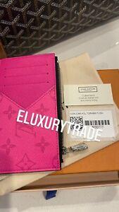 2021 NWT Louis Vuitton Hot Pink Fuchsia Neon Taigarama Coin Card Holder Wallet