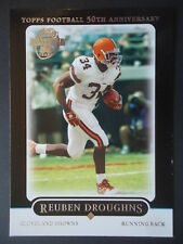 NFL 257 Reuben Droughns Cleveland Browns Topps Football 50th Anniversary 2005