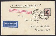 Zeppelin Schlesienfahrt 1929 1 Mark Adler Stempelfehler (S11554)