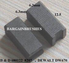 BLACK & DECKER 680122 WHIPPER SNIPPER CARBON BRUSHES DEWALT DW670  6x6x12mm-A3