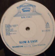 "RAINBOW FEAT ASHA SENATOR - Slow & Easy ~ 12"" Single"