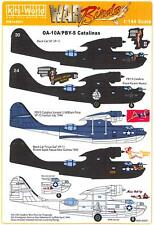 Kits World Decals 1/144 Oa-10A & Pby-5 Catalina Black Cat & Other Versions