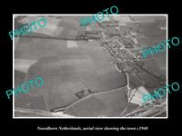 OLD LARGE HISTORIC PHOTO NOORDHORN NETHERLANDS HOLLAND TOWN AERIAL VIEW c1940 1