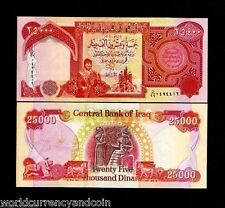 IRAQ 25000 25,000 2006  IRAQI DINARS 99 *REPLACEMENT UNC KURD BABYLON KING NOTE