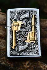 Zippo Lighter - Golden Revolver - European - 18K Gold - Colt M1873 - 1873