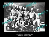 OLD 8x6 HISTORICAL PHOTO OF US AIR FORCE 90th BOMB GROUP MOBY DICK CREW 1940s