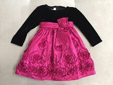 Bonnie Baby Dress 12 Month Ruffled Puffy Purple Black With Roses Party