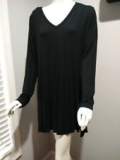 Soma Tunic Top Split Side Black Long Sleeve Size XL