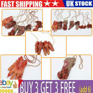 Halloween Hanging Fake Body Bloody Severed Parts Arm Hand Foot Scary Prank nl