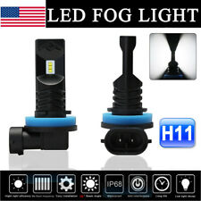 Nighteye H11 H8  H9 160W LED Fog Light Bulbs Car Driving Lamp DRL 6500K Xenon US