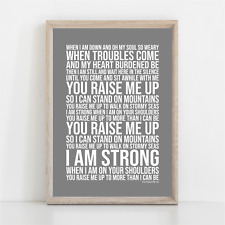 More details for westlife you raise me up song lyrics poster print wall art