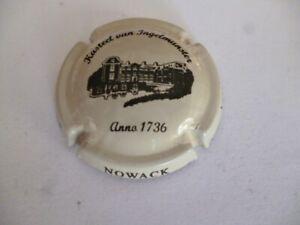 capsule de champagne, NOWACK, castel van Ingelmunster, crème et noir, N°1, rare