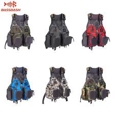 Bassdash Fly Fishing Mesh Vest General Size Adjustable Mutil-Pocket Breathable