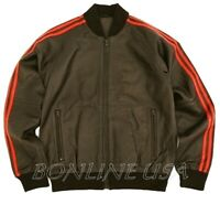 Men's Genuine Real Leather Tracksuit Upper Style Jacket New 5XL
