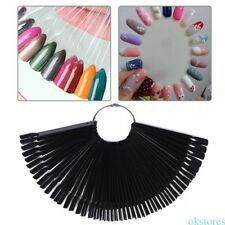 New 50pcs Fan-shaped False Fake Nail Art Tips Sticks Polish Gel Salon Display