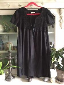 Odd Molly Black Boho Popover Tunic Smock Top Size 3 UK 14 - 16