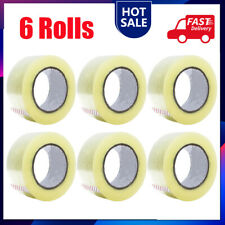 6 Rolls Of Clear Tape Strong Parcel Packing Packaging Sellotape 45mm X 50m