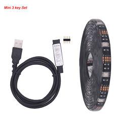 5V LED Strip Light USB RGB Lamp Tape SMD 5050 1M 2M 3M 5M TV Background Home