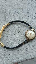 Antique Watch 1940's Benrus Brentton 12kt Gol black cord Ladies Watch