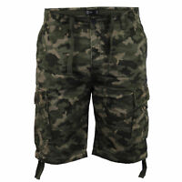 Mens Camouflage Shorts Dissident Cargo Combat Knee Length Military Casual Summer