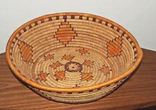 "Antique African Basket tray large 12"" Diamond Pattern"