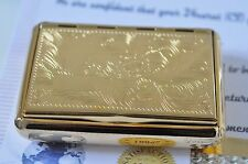 Cigarette case holder tobacco box Engravable  Stainless Steel 24K Gold Plated