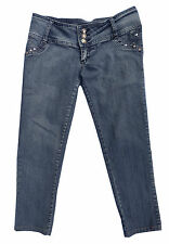 B B Couture Women's Jr 7 Embellished Distressed Midrise Stretch Cropped Jeans