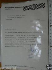 HT145-ORIGINAL AUTOGRAPH ?,MOTORSPORTCLUB RUTZENMOOS 1972,LEITNER,MINICH,WEIS,