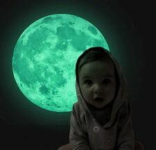 Lune lumineux Brille dans le noir Chambre d'Enfants enfants Déco 30 cm Diamètre