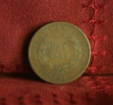 1 Cent 1845 Straits Settlements East India World Coin Malaysia Victoria Malay