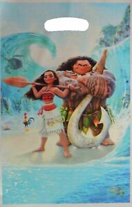 MOANA MAUI LOLLY LOOT BAGS X 10 BIRTHDAY PARTY FAVOUR DECORATIONS SUPPLIES TREAT