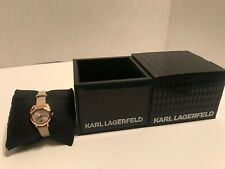 Karl Lagerfeld Women's Camille Cat Dial Leather Watch KL2620 NEW IN BOX!!