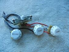Custom Fender Stratocaster Wiring Harness CTS Pots CRL 5 Way Switch Off White