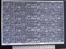 "O gauge (1:48 scale) ""block stone"" self adhesive vinyl - A4 sheet"