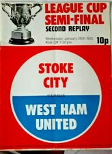 More details for stoke city v west ham utd league cup s/final 2nd replay programme + match ticket