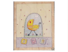 """STAMPS HAPPEN """"BABY CARRIAGE"""" RUBBER STAMP"""