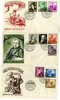 3 Sobres primer dia sellos España 1958 Goya 24 marzo Madrid