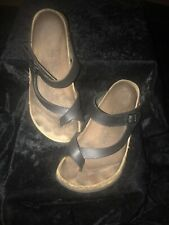 Womens Birkis Black Leather Size 8